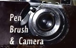 Olovka, kist i fotoaparat