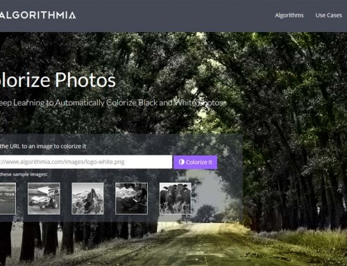 Algorithmia boja crno-bijele fotografije