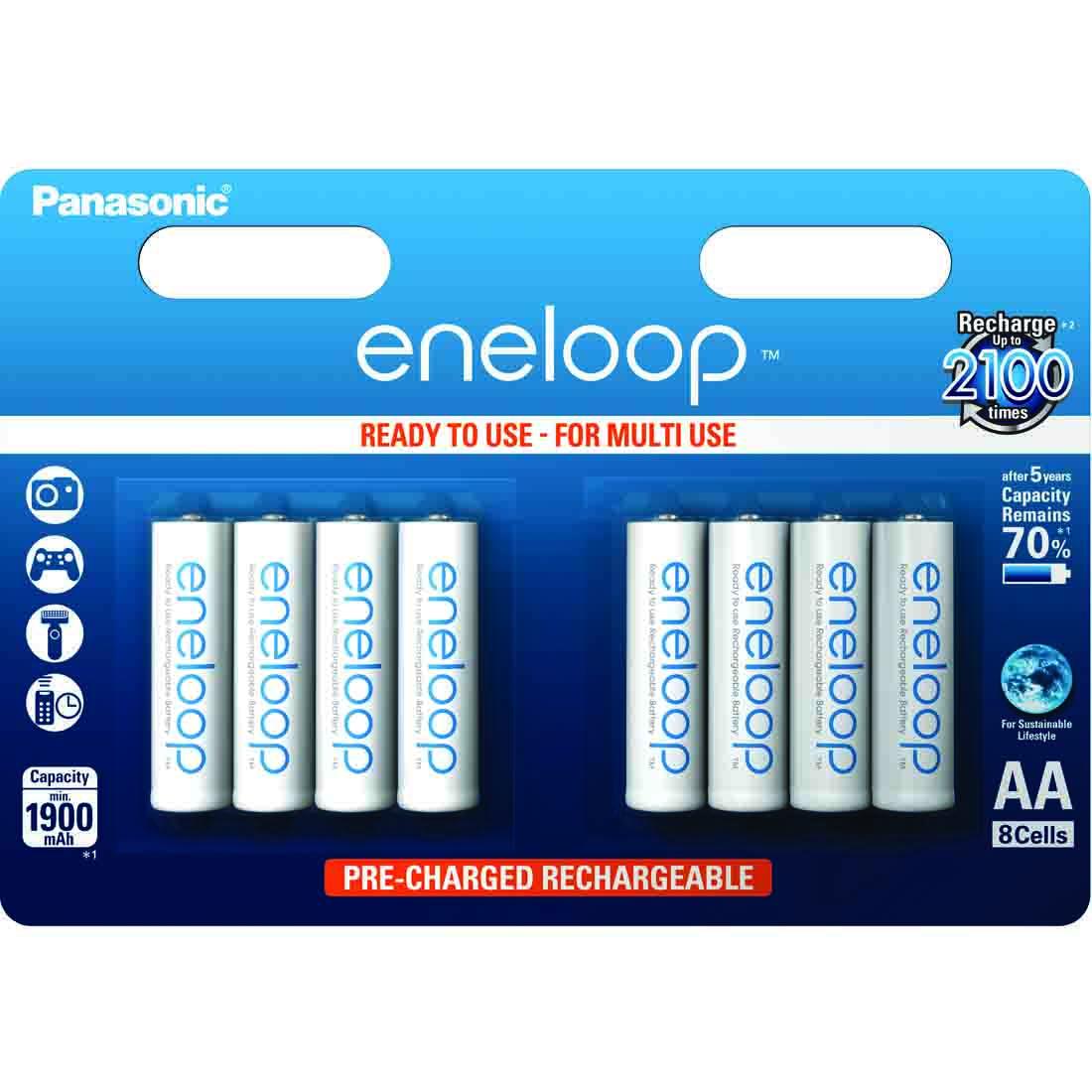 Eneloop standardne - 8 x AA