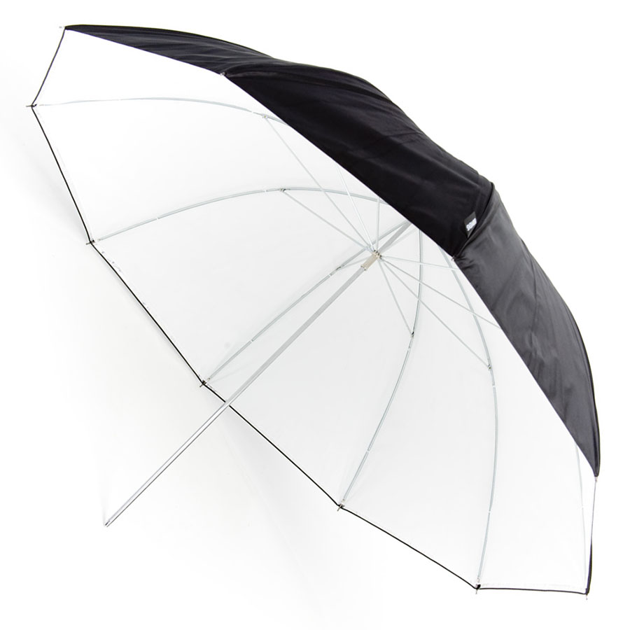 Kišobran Bowens srebrni/bijeli - 115 cm