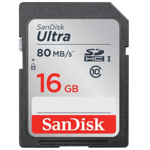 SDHC kartica Sandisk Ultra 16 GB - 80 MB/s