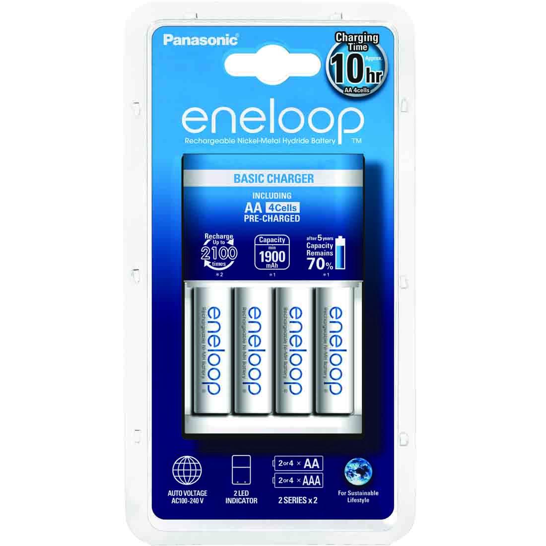Punjač Eneloop basic sa 4 AA Eneloop standardne baterije