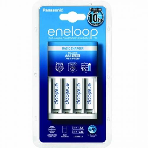 Punjač Eneloop basic sa 4 AAA Eneloop standardne baterije